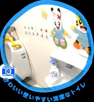 かわいい使いやすい清潔なトイレ